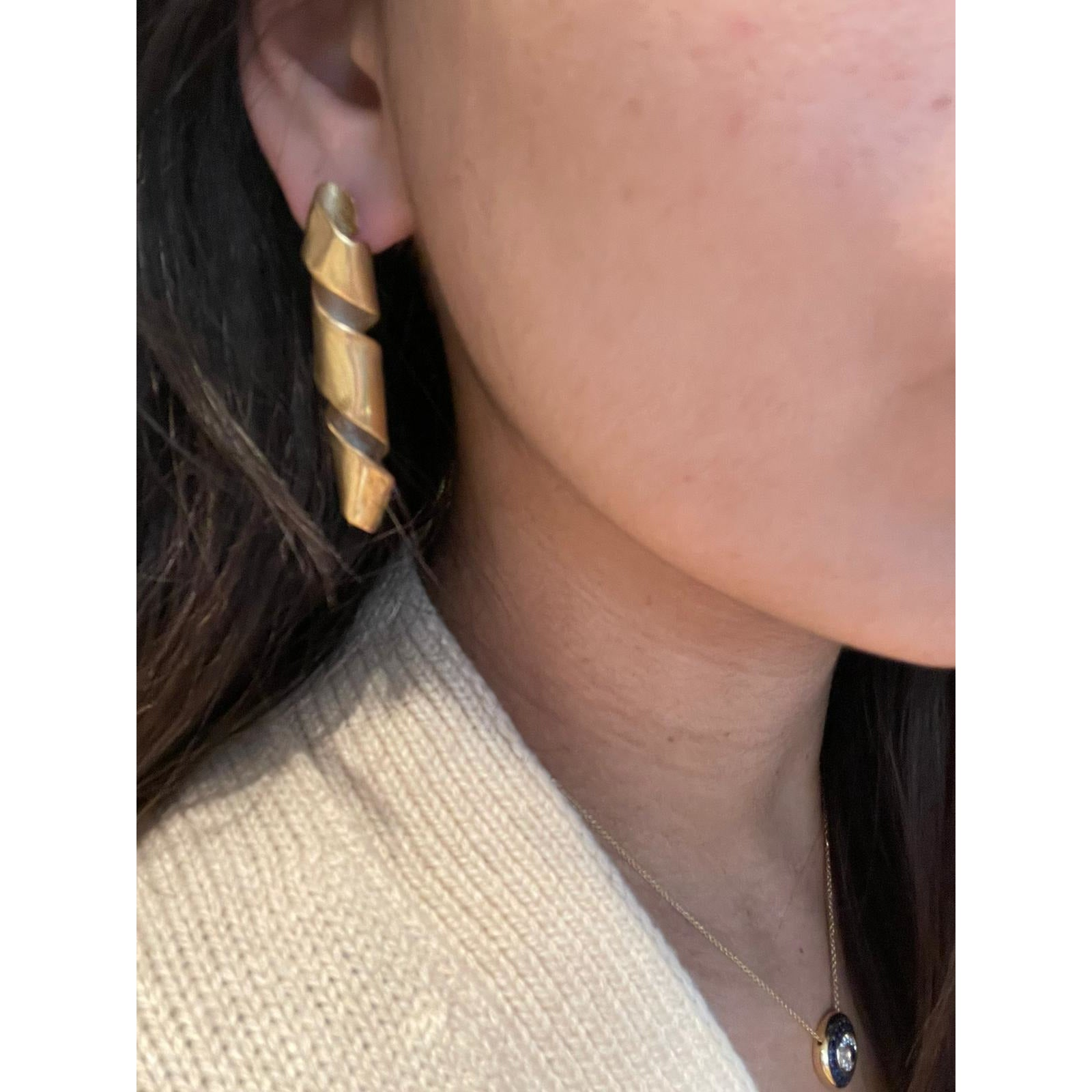 Streamer Earrings 24K gold plating over 925 Recycled Silver, Made to order, 10 days lead time - natoorio