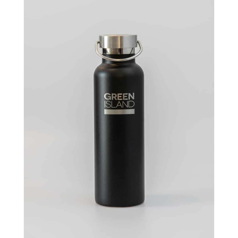 Water Bottle (Black), 600ml, Vacuum insulated - natoorio