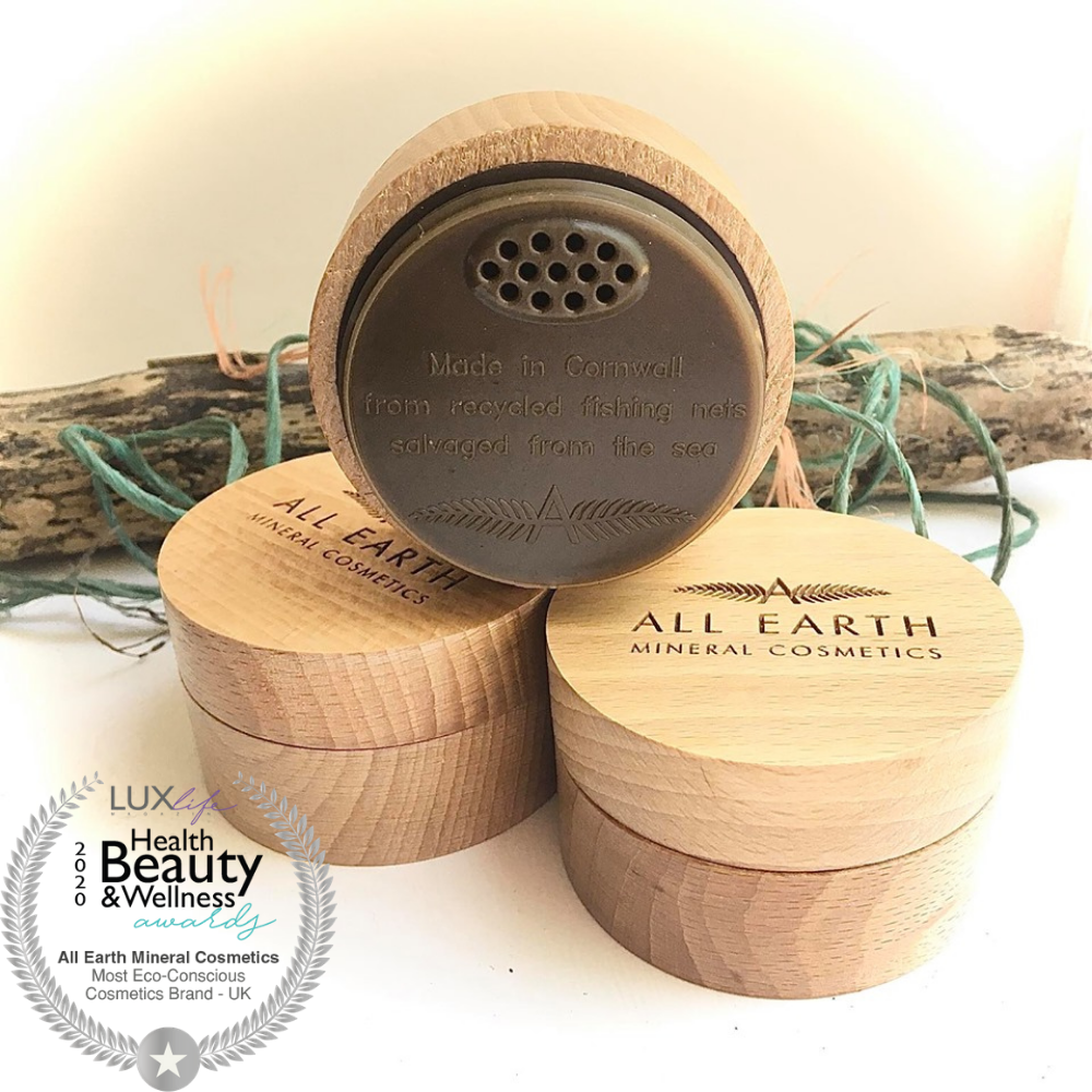 MINERAL FINISHING POWDER CRUELTY FREE, PALM OIL FREE AND VEGAN IN BAMBOO POT - natoorio