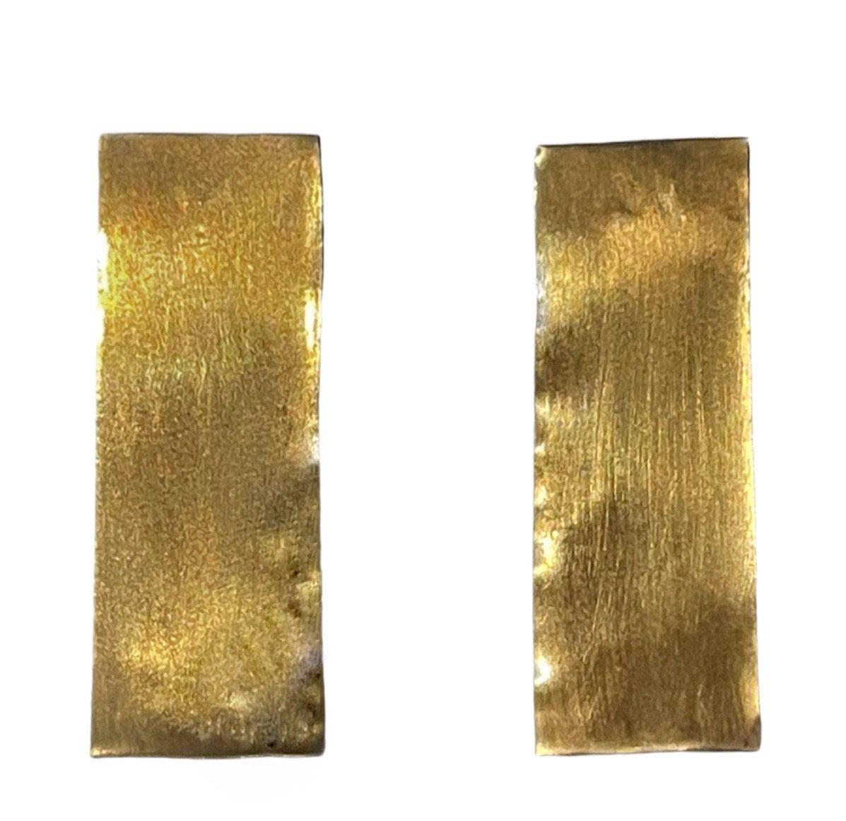 Large Rectangular Geometric Statement Earrings 24K gold plating over 925 Recycled Silver, Made to order- 8 days lead time - natoorio