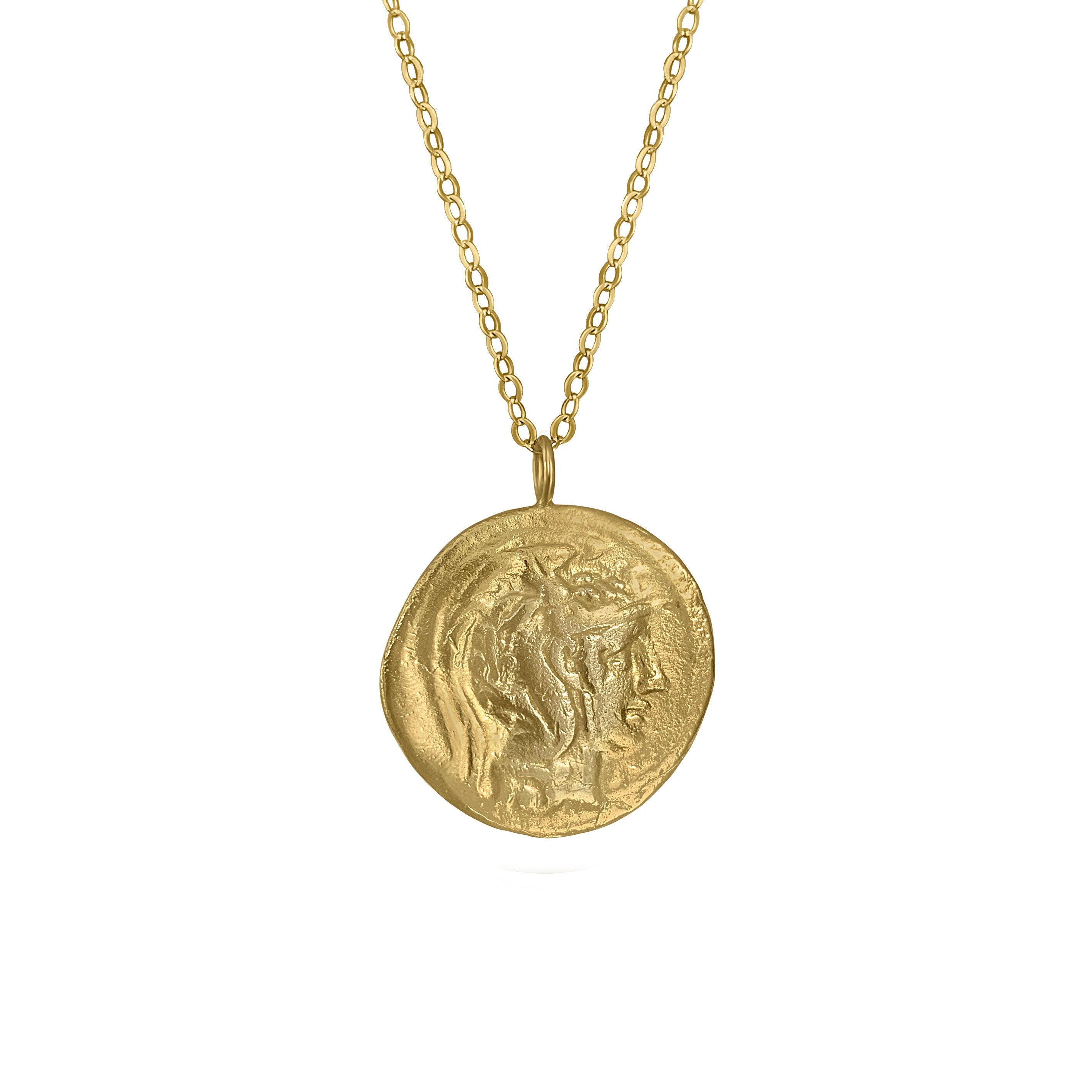 Athena Coin Necklace Pendant - natoorio