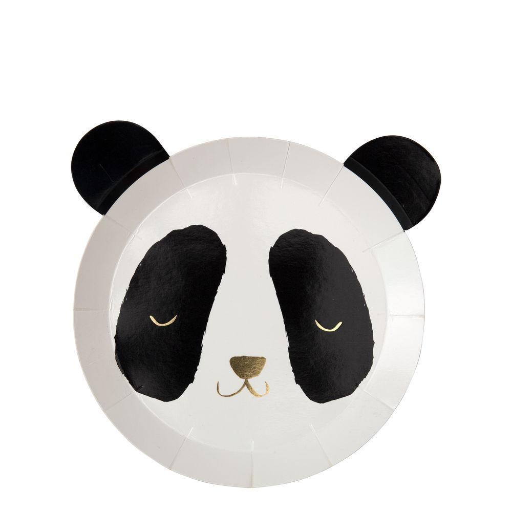 Panda Plates - Pack of 8 - natoorio