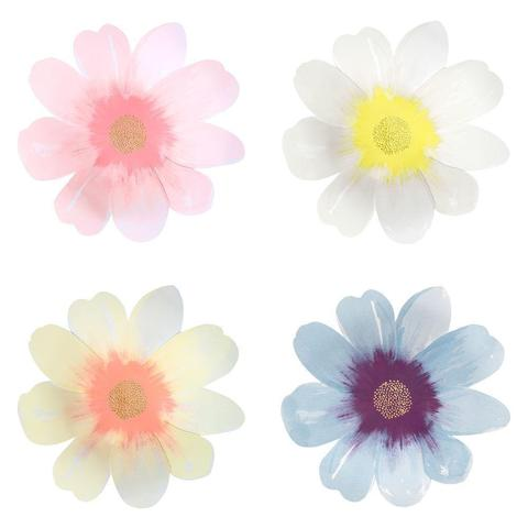 Flower Garden (Large) Plates - Pack of 8 in 4 designs - natoorio