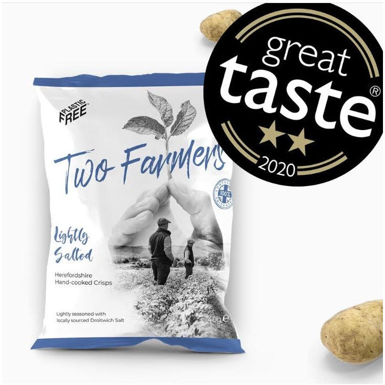 PLASTIC FREE, HOME COMPOSTABLE AND VEGAN crisps 40g Lightly Salted - natoorio