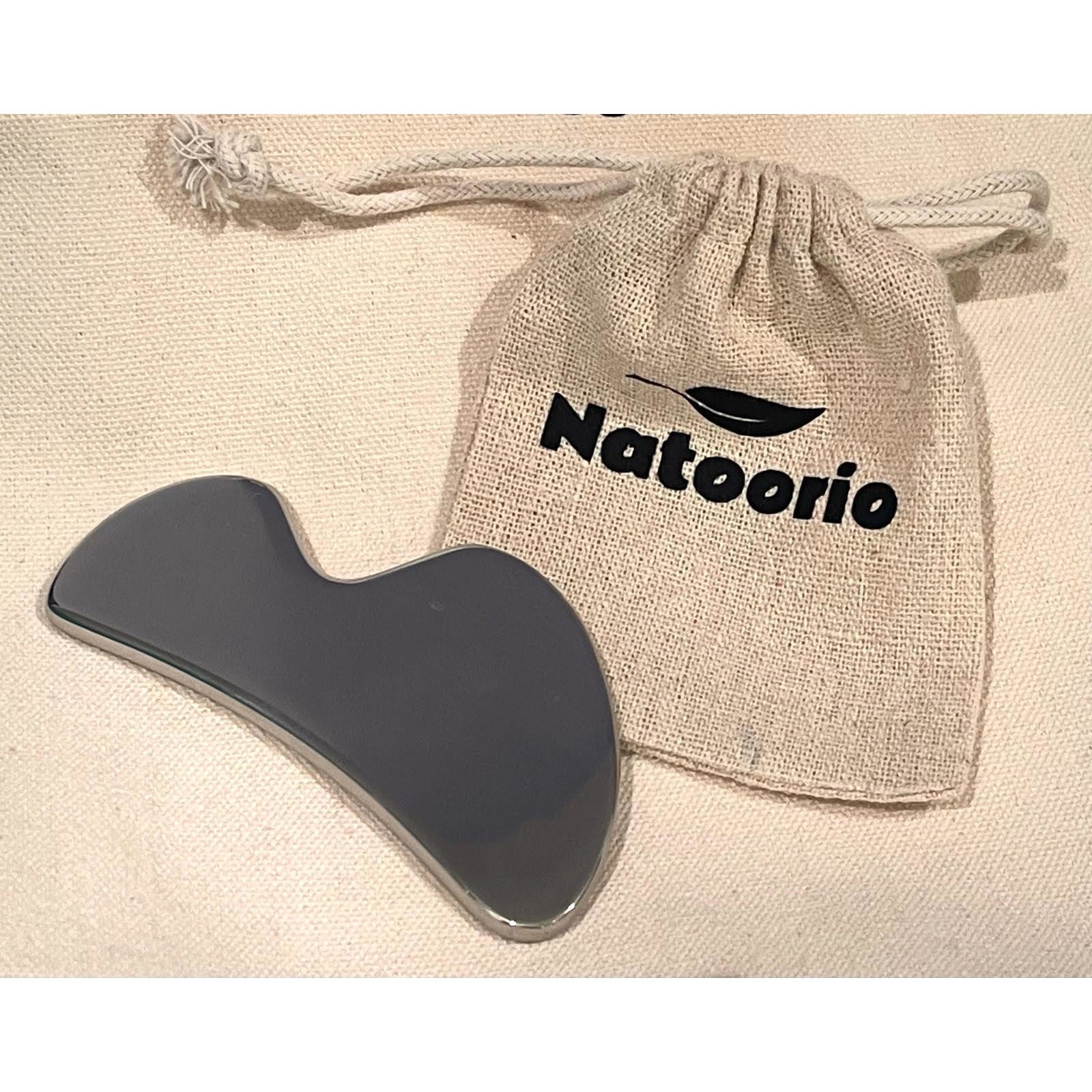 Gua Sha for Face and Body in Stainless steel - Relieves muscle tension - natoorio