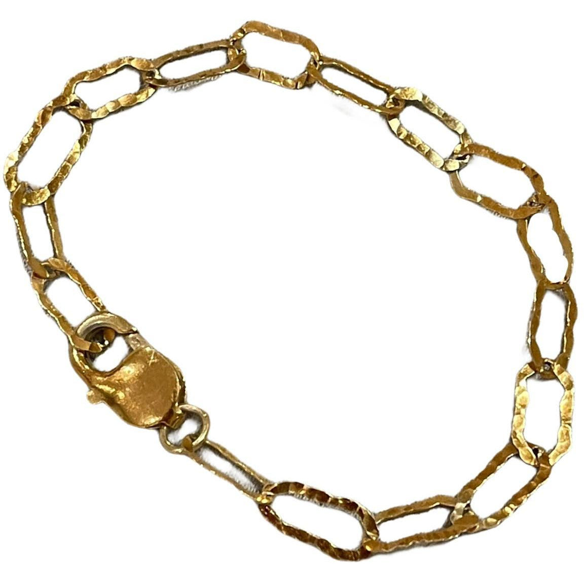 Charm Link Chain Bracelet 24K gold plating over 925 Recycled Silver, Made to order, 10 days lead time - natoorio