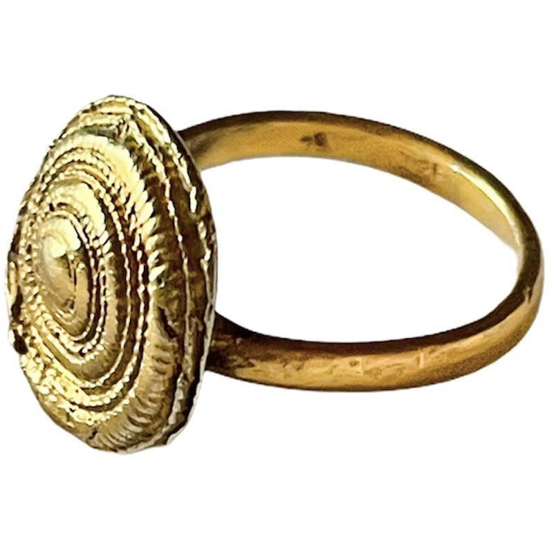 Spiral 24K Gold Plated over Silver Ring, made to order at any size, 10 days lead time - natoorio
