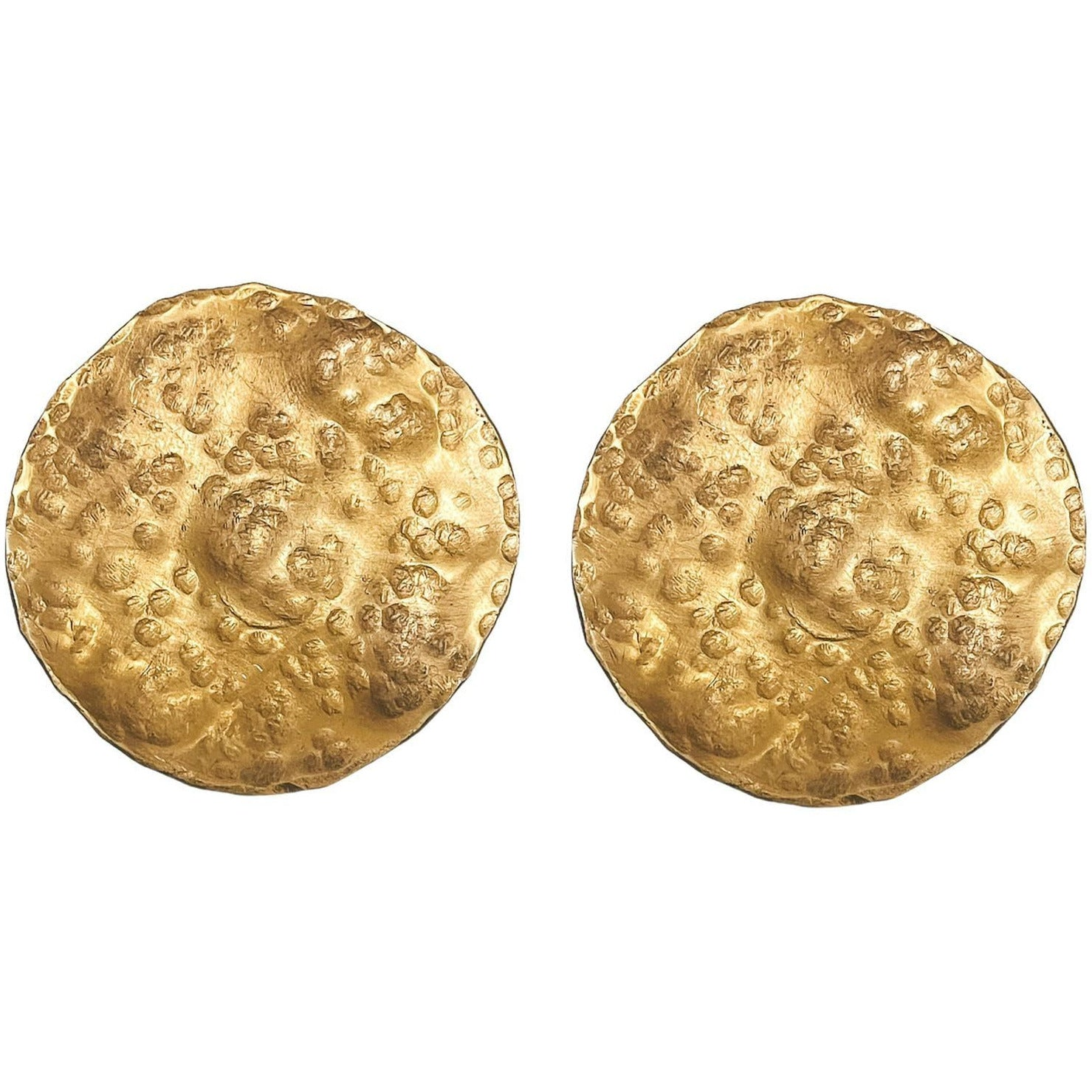 LARGE Luna Full Moon Discs 24K gold plating over 925 Recycled Silver Earrings, Made to order, 10 days lead time - natoorio
