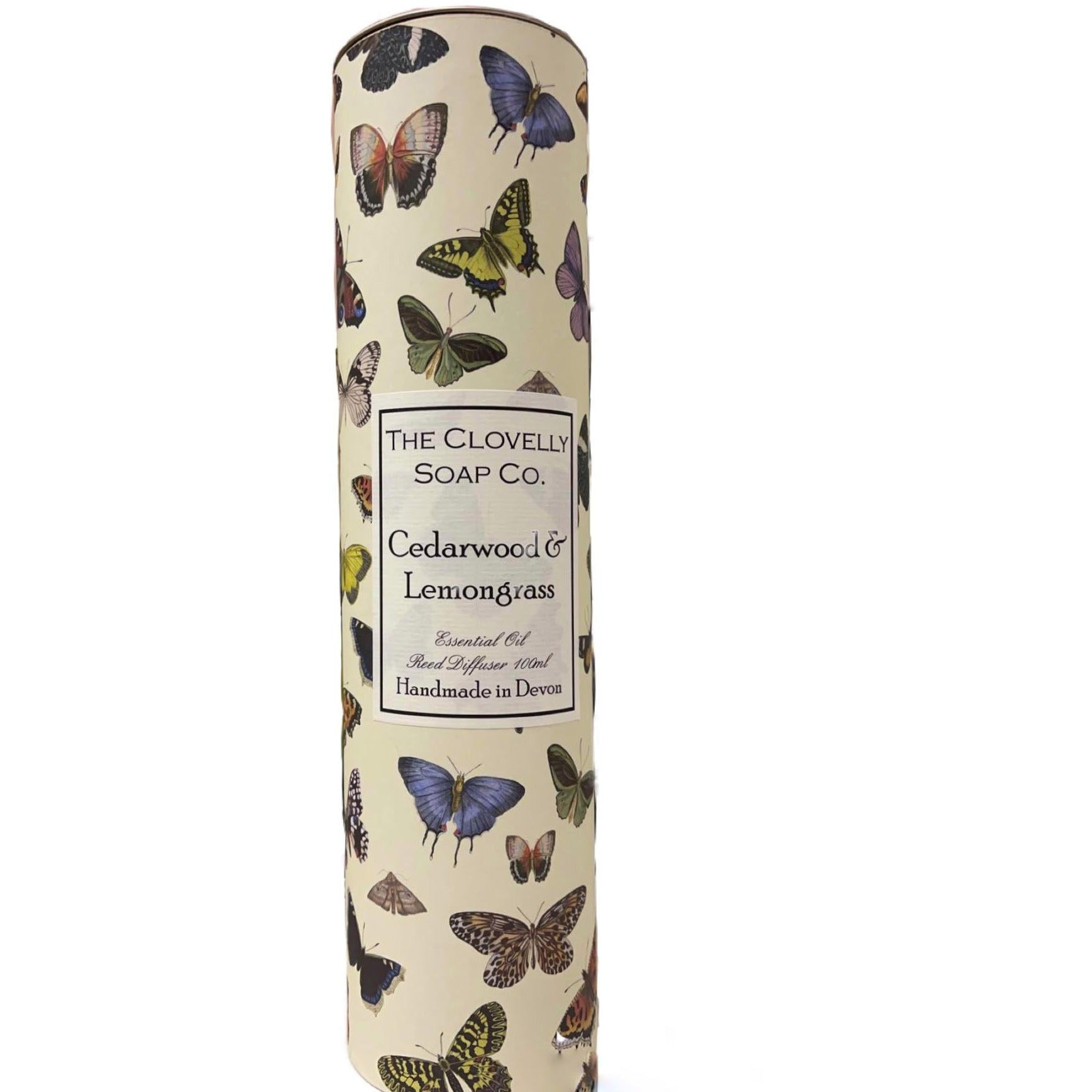 NEW PACKAGING Cedarwood & Lemongrass Reed Diffuser, made using eco friendly Augeo diffuser liquid and Pure Therapeutic Grade Essential Oils - natoorio