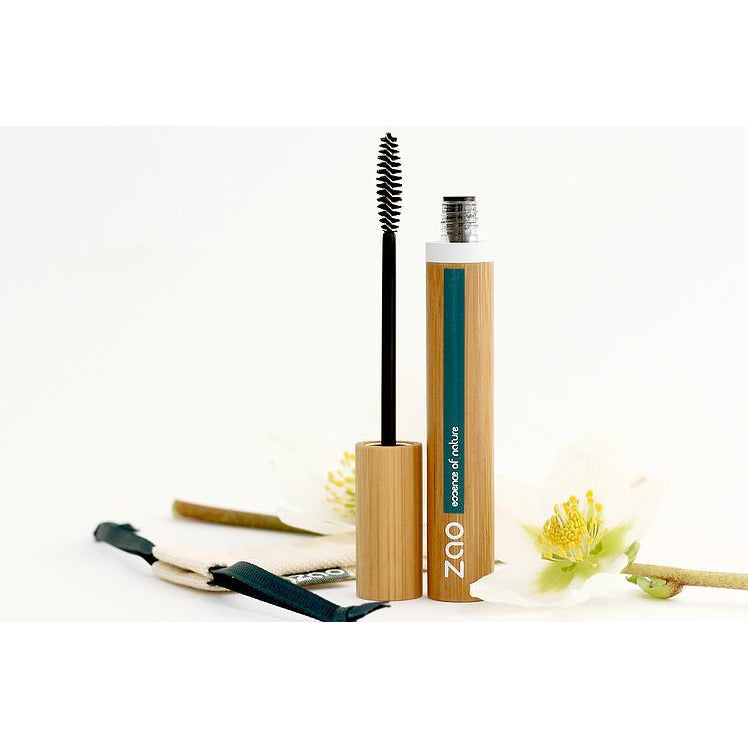 Refillable Volume & sheathing mascara (085) Ebony - A formula 100% of natural origin, certified organic and Vegan. - natoorio