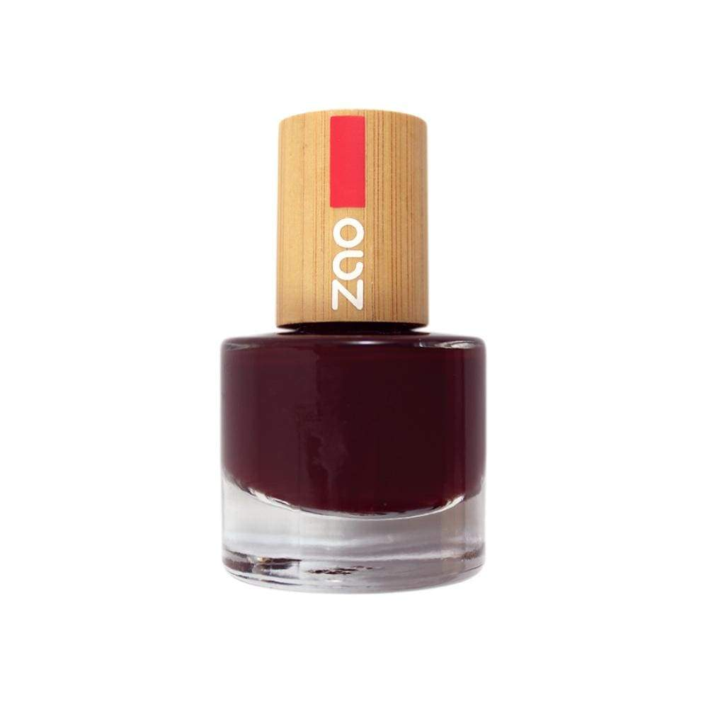 Black Cherry Nail Polish, Palm oil free, without any toxic ingredients - natoorio