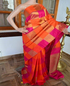 Awosome Orange Color Soft Silk Designer Saree