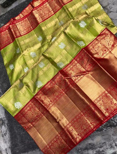 South Indian Perrot Color Soft Silk Designer Saree