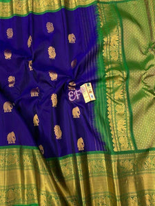 Adesive Purple Color Designer Silk Saree