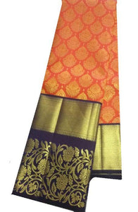 Orange Color Soft Silk Designer Saree