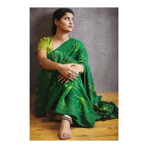 Fabulous Green Color Soft Silk Designer Saree
