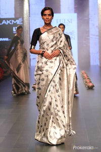 Simple White Color Soft Silk Designer Saree