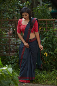 Latest Navy Blue Color Soft Silk Designer Saree