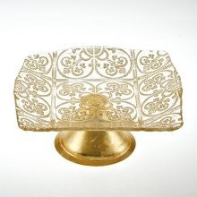 Badash Gold Accent Footed Cake Stand