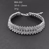 DollyBling chain link  Crystal Women Men jewelry Infinity Rhinestone bracelet  bangles Gifts for wedding party  (bra-032)