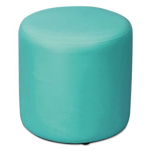 Big Blue Circular Ottoman - Office Furniture USA
