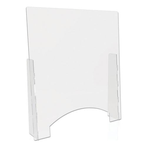 Acrylic Counter Top Barrier with Passthrough - Office Furniture USA
