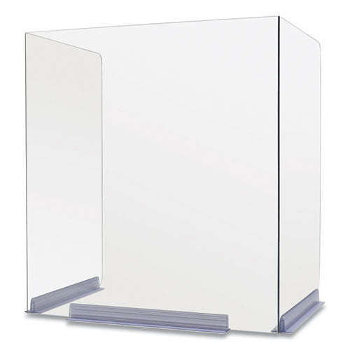 Clear Polycarbonate Classroom Dividers See Office Furniture desks, chairs, and more at officefurnitureusa.store.