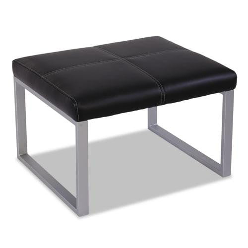 Leather Ottoman with Steel Base See Office Furniture desks, chairs, and more at officefurnitureusa.store.