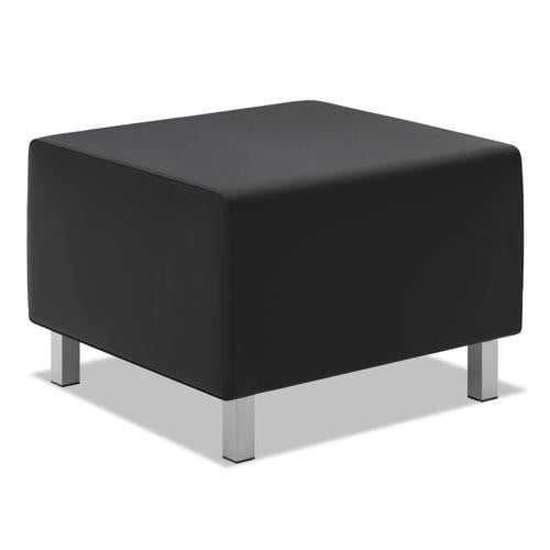 Thick Black Leather Ottoman See Office Furniture desks, chairs, and more at officefurnitureusa.store.