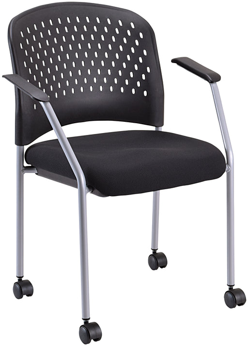Lifetime Warranty classic stackable side chair with or without wheels/casters See Office Furniture desks, chairs, and more at officefurnitureusa.store.