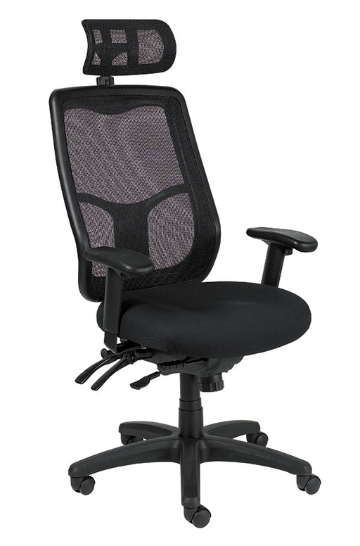 Lifetime Warranty Multi-Function high back Chair with optional Headrest See Office Furniture desks, chairs, and more at officefurnitureusa.store.
