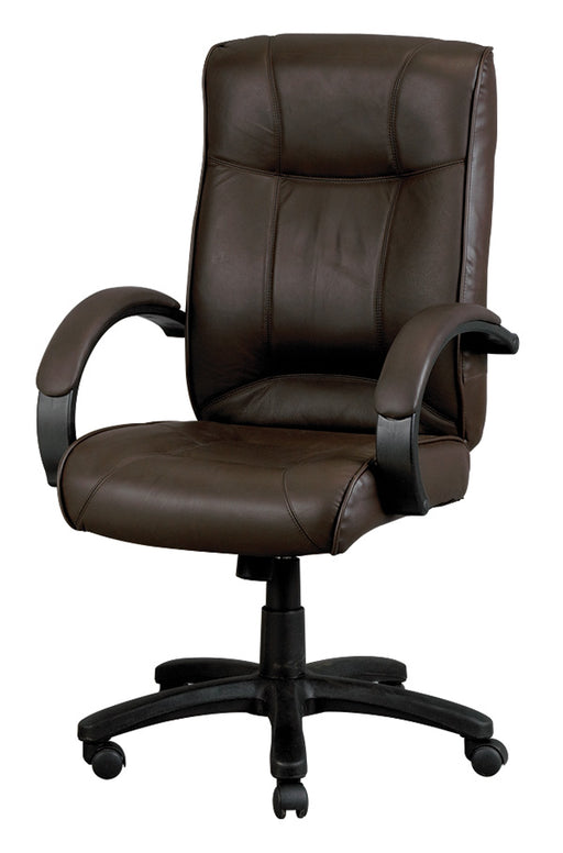 Lifetime Warranty High Back Leather Chair with arms See Office Furniture desks, chairs, and more at officefurnitureusa.store.