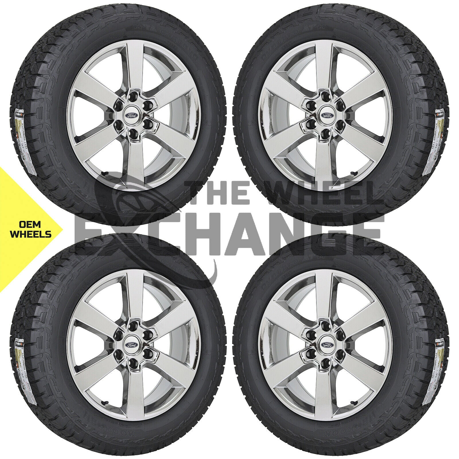 20 Ford F150 Truck Pvd Chrome Wheels Rims Tires Factory Oem Set 4 100 The Wheel Exchange