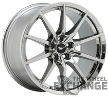 Load image into Gallery viewer, 19x10.5 19x11 Mustang GT350 PVD Chrome wheels Factory OEM 10053 10054 EXCHANGE