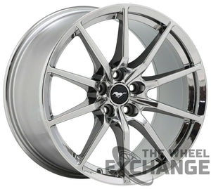 19x10.5 19x11 Mustang GT350 PVD Chrome wheels Factory OEM 10053 10054 EXCHANGE