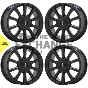 "19"" Lincoln Continental black wheels rims Factory OEM set 4 10089"