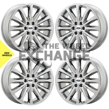 "Load image into Gallery viewer, 22"" Ford F150 Platinum PVD Chrome wheels rims Factory OEM set 10174 EXCHANGE"
