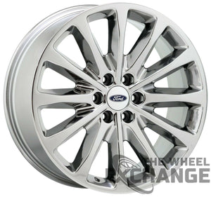 "22"" Ford F150 Platinum PVD Chrome wheels rims Factory OEM set 10174 EXCHANGE"