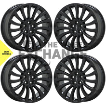 "Load image into Gallery viewer, 20"" Lincoln Aviator black wheels rims Factory OEM 2020 2021 set 4 10189 EXCHANGE"