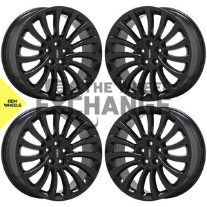 "20"" Lincoln Aviator black wheels rims Factory OEM 2020 2021 set 4 10189 EXCHANGE"