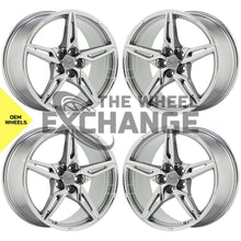 Load image into Gallery viewer, 19x8.5 20x11 Corvette C8 PVD Chrome wheels rims Factory OEM 14007 14008 EXCHANGE