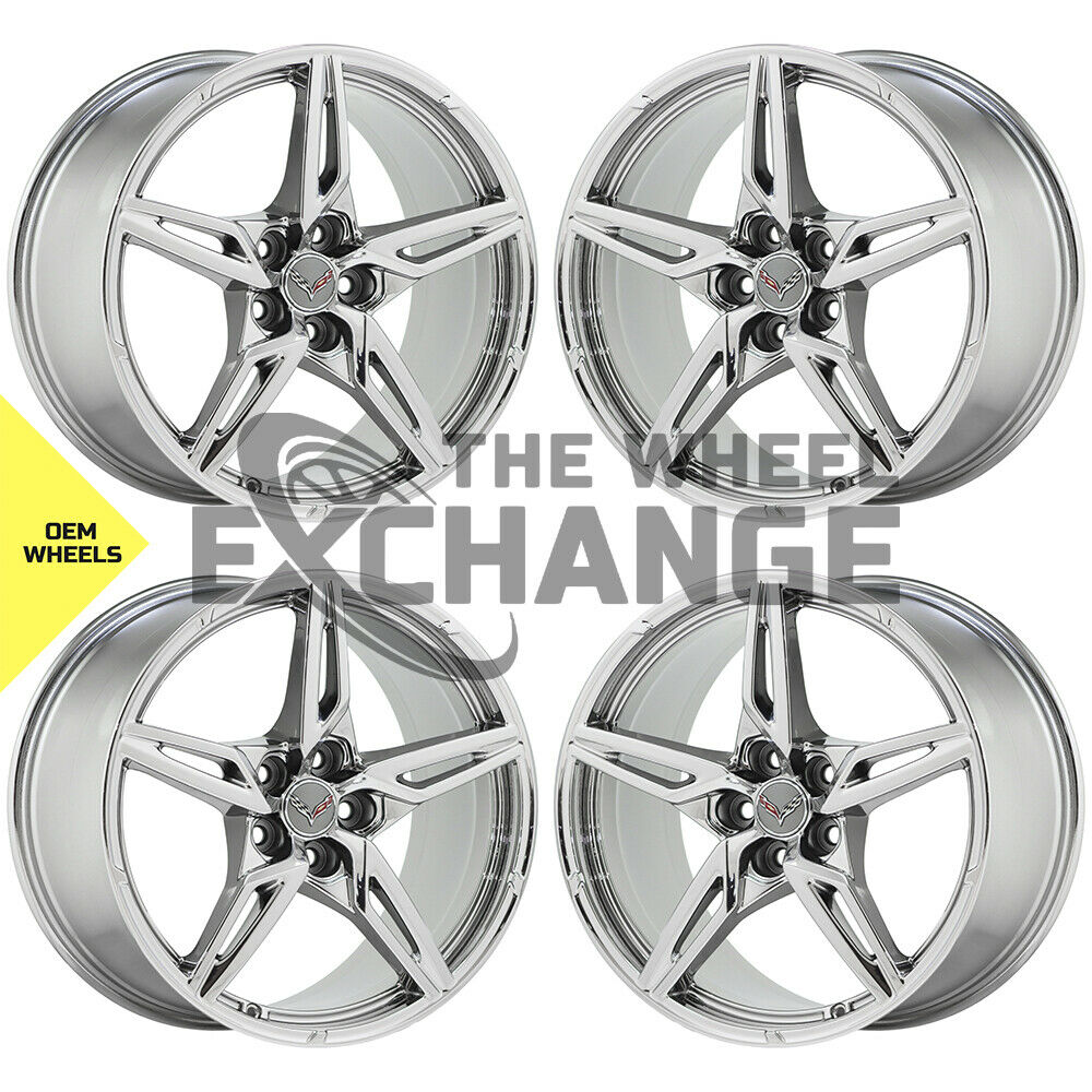 19x8.5 20x11 Corvette C8 PVD Chrome wheels rims Factory OEM 14007 14008 EXCHANGE