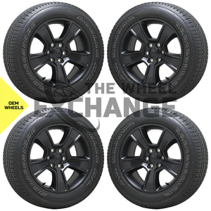 "20"" Dodge Ram 1500 Truck black wheels tires Factory OEM set 2019 2020 2021 2676"