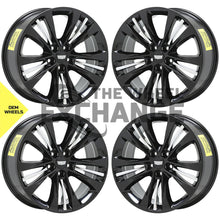 "Load image into Gallery viewer, 20"" Cadillac CT6 Black wheels rims Factory OEM set 4764 EXCHANGE"