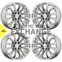 "Load image into Gallery viewer, 22"" Cadillac Escalade Platinum PVD Chrome wheels rims Factory OEM GM set 4804"