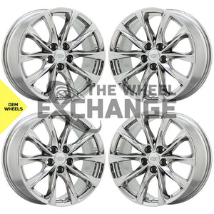 "19"" Cadillac CT5 V-Series PVD Chrome wheels rims Factory OEM 2020 2021 set 4839"