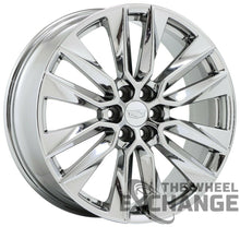 "Load image into Gallery viewer, 21"" Cadillac XT6 PVD Chrome wheels rims Factory OEM GM set 4 4851 EXCHANGE"