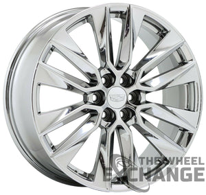 "21"" Cadillac XT6 PVD Chrome wheels rims Factory OEM GM set 4 4851 EXCHANGE"