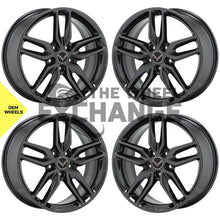 Load image into Gallery viewer, 19x8.5 20x10 Corvette Black Chrome wheels rims Factory OEM set 5635 5641 EXCH