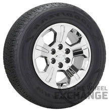 "Load image into Gallery viewer, 18"" Silverado 1500 Z71 PVD Chrome wheels rims tires Factory OEM GM set 4 5647"